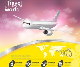 Travel around the world business template vector 17