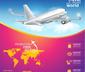 Travel around the world business template vector 19