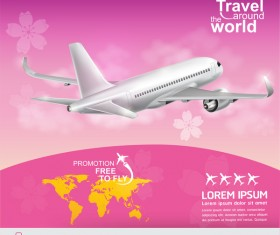 Travel around the world business template vector 20