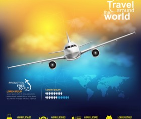 Travel around the world business template vector 21