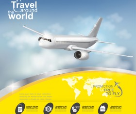 Travel around the world business template vector 22