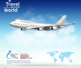 Travel around the world business template vector 25