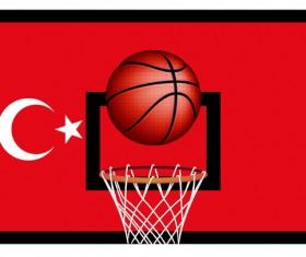 Turkish styles basketball background vector 01