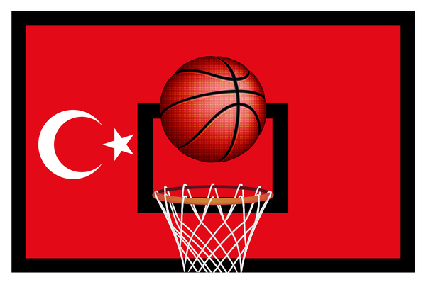 Turkish styles basketball background vector 01