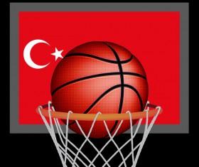 Turkish styles basketball background vector 02