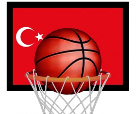 Turkish styles basketball background vector 03