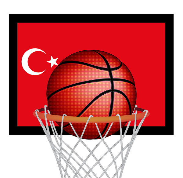 Turkish styles basketball background vector 03