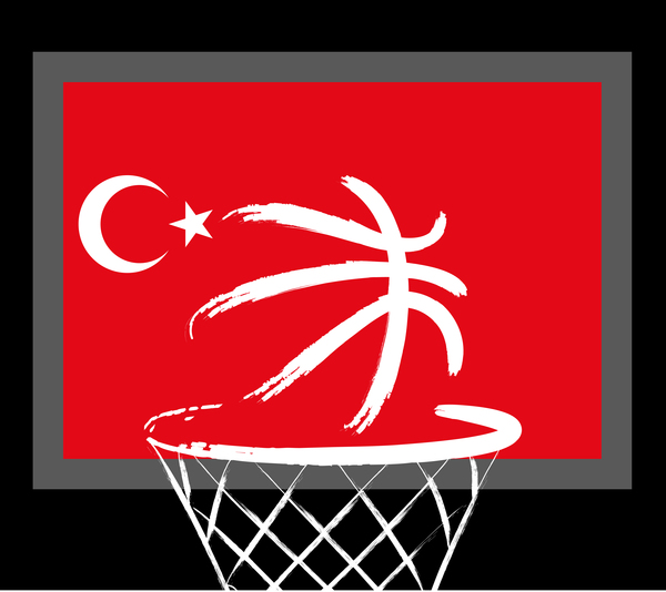 Turkish styles basketball background vector 04
