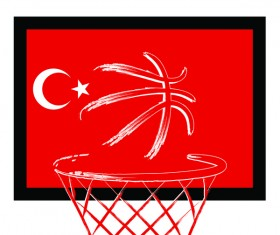 Turkish styles basketball background vector 05