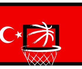 Turkish styles basketball background vector 06