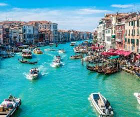 Venice water bus Stock Photo