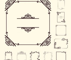 Vintage frame with decorative design vector