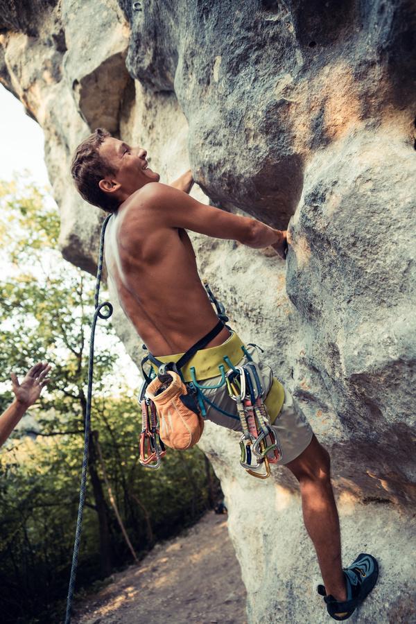 Young climbers climbing Stock Photo 05