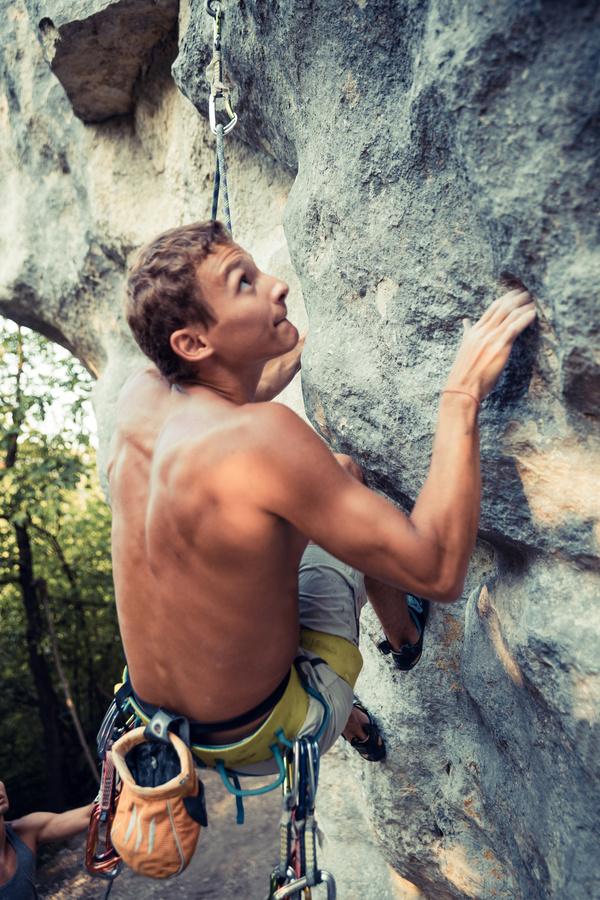 Young climbers climbing Stock Photo 07