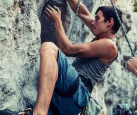 Young climbers climbing Stock Photo 08