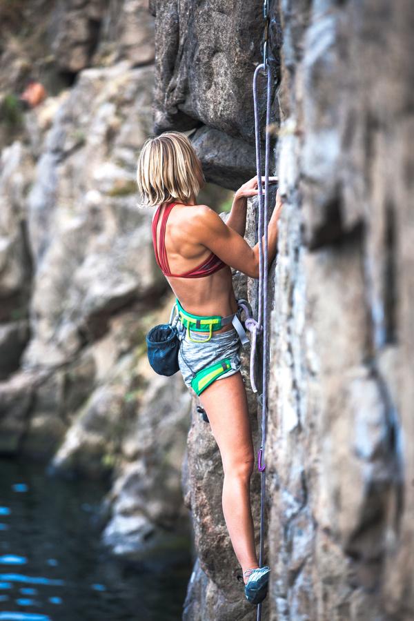 Young climbers climbing Stock Photo 10
