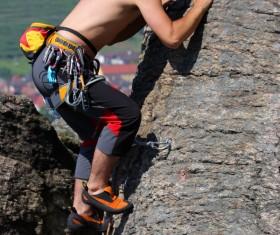 Young climbers climbing Stock Photo 11