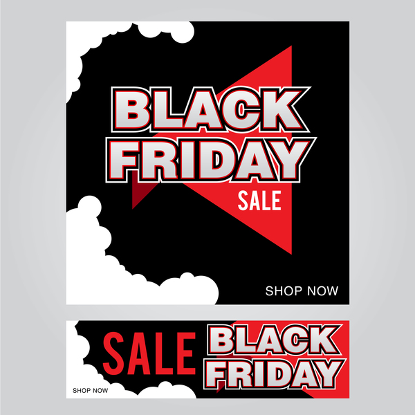 black friday poster with banner template vector material 01