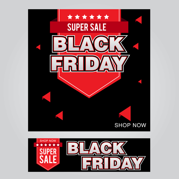 black friday poster with banner template vector material 05