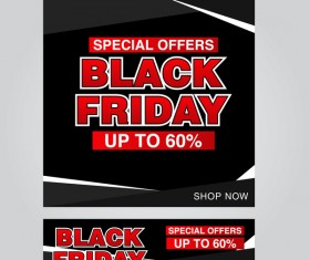black friday poster with banner template vector material 13