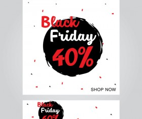 black friday poster with banner template vector material 14