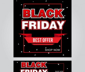 black friday poster with banner template vector material 15