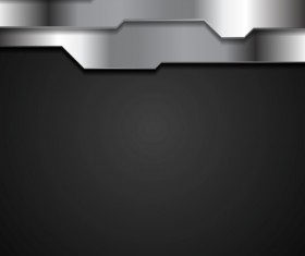 black metal board background vector