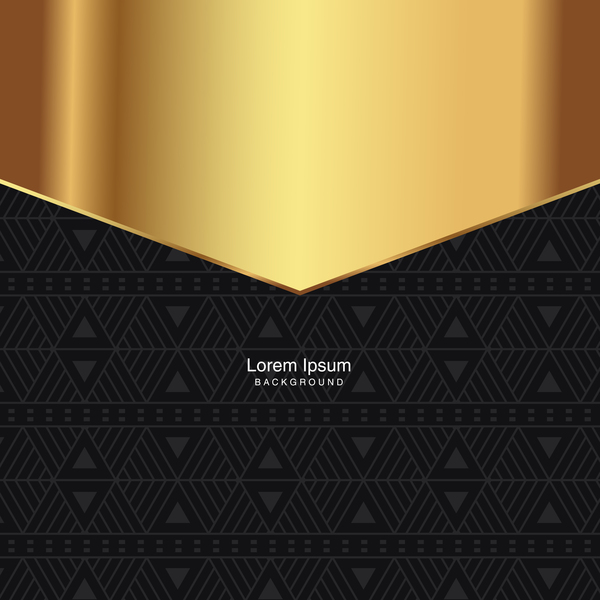 black seamless pattern with gold background vector 03
