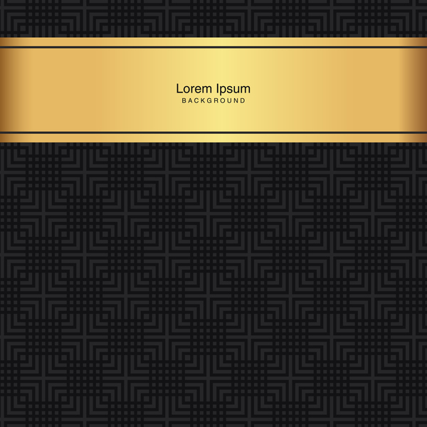 black seamless pattern with gold background vector 05
