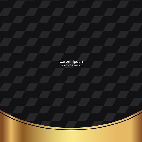 black seamless pattern with gold background vector 08