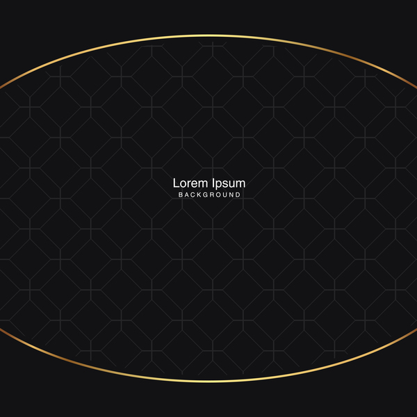 black seamless pattern with gold background vector 09