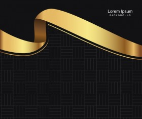 black seamless pattern with gold background vector 10
