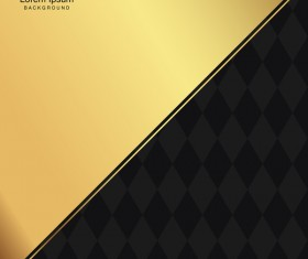 black seamless pattern with gold background vector 15