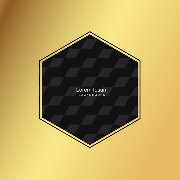 black seamless pattern with gold background vector 16