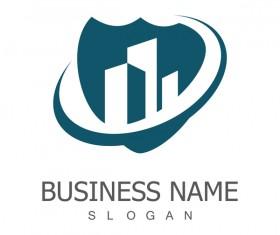 building shield logo vector