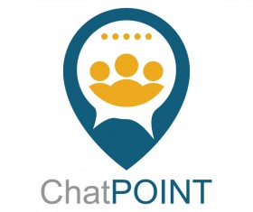 chat point business logo vector