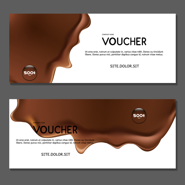 chocolate voucher template vector 01