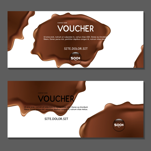 chocolate voucher template vector 02