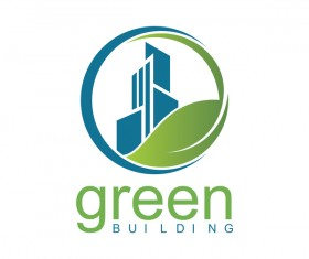 green building logo vector