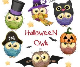 halloween cartoon owl vector 03