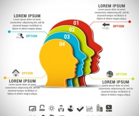head business infographic vector