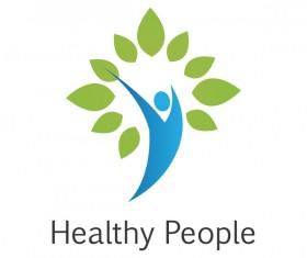 healthy people logo vector