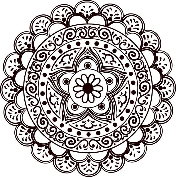 mandala lineart ornament vector material 01