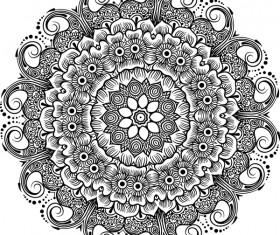 mandala lineart ornament vector material 09