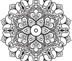 mandala lineart ornament vector material 10