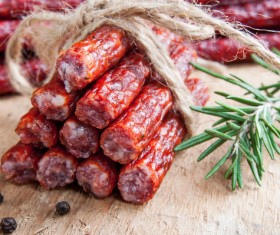 meat products sausages Stock Photo 02