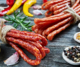 meat products sausages Stock Photo 03