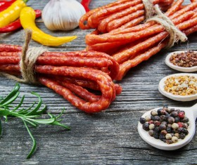 meat products sausages Stock Photo 04