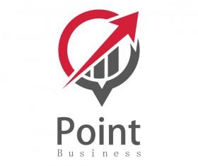 point business arow logo vector