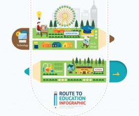 route business infographic vector 10